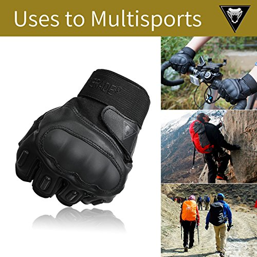 Viperade Airsoft Glove 6 Viperade Mens Tactical Gloves Military Rubber Hard Knuckle Outdoor Glove | Heavy Duty Glove | Airsoft Glove | Best for Cycling Hiking Camping Powersports