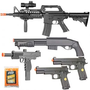 BBTac Airsoft Rifle 1 BBTac Airsoft Gun Package Desert Raider - Powerful Spring Rifle