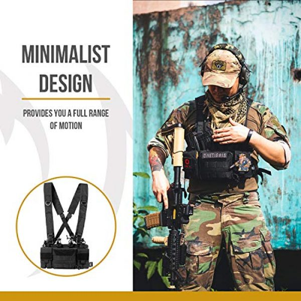 OneTigris Airsoft Tactical Vest 2 OneTigris Tactical Chest Rig with 5.56/7.62 Rifle Mag Pouches Pistol Mag Pouches and X Harness for Airsoft Shooting Wargame Paintball