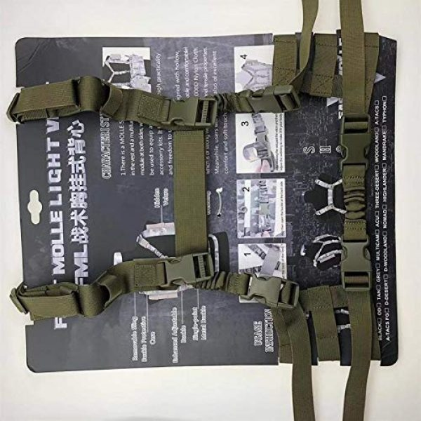 Shefure Airsoft Tactical Vest 7 Shefure Military Tactical Vest Airsoft Molle System Low Profile Chest Rig Removable Gun Sling Hunting Airsoft Paintball Gear
