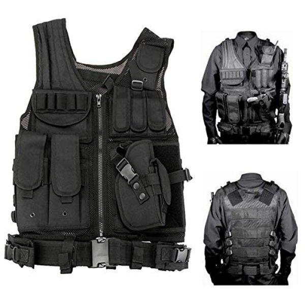 Vioaplem Airsoft Tactical Vest 2 Vioaplem Men's Military Tactical Vest Army Molle Vest Outdoor CS Airsoft Paintball Equipment Body Armor Hunting Vest 4 Colors