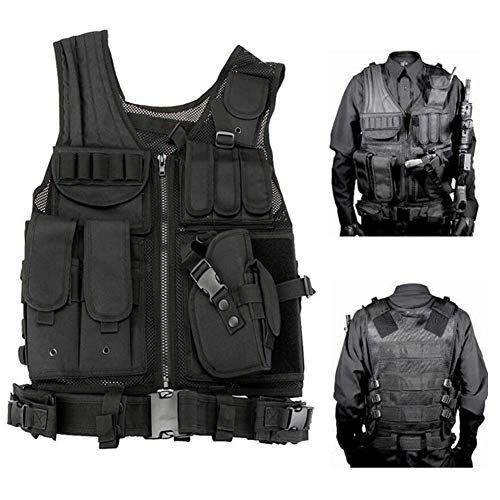 Redland Art Airsoft Tactical Vest 2 Redland Art Men's Military Tactical Vest Army Molle Vest Outdoor CS Airsoft Paintball Equipment Body Armor Hunting Vest 4 Colors Airsoft Tactical Vest