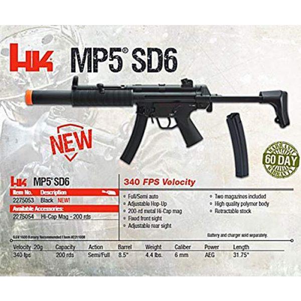 Elite Force Airsoft Rifle 6 HK Heckler & Koch MP5 AEG Automatic 6mm BB Rifle Airsoft Gun, MP5 SD6