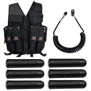 Maddog Airsoft Tactical Vest 1 Maddog Tactical Attack Vest w/Pods & Standard Remote Coil Paintball Package