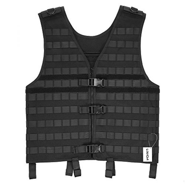 Lixada Airsoft Tactical Vest 1 Lixada Tactical Vest Military Airsoft Vest Adjustable Breathable Combat Training Vest for Outdoor Hunting, Fishing, Army Fans, CS War Game, Survival Game, Combat Training
