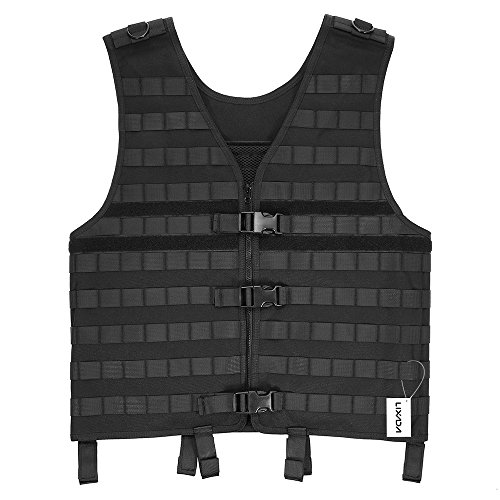 Lixada Airsoft Tactical Vest 1 Lixada Tactical Vest Military Airsoft Vest Adjustable Breathable Combat Training Vest for Outdoor Hunting