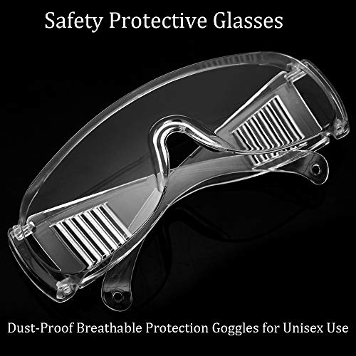 OMG_Shop Airsoft Goggle 3 Protective Safety Goggles Glasses Crystal Clear Eyewear Anti-Fog Glasses Eye Protection with Clear Vision