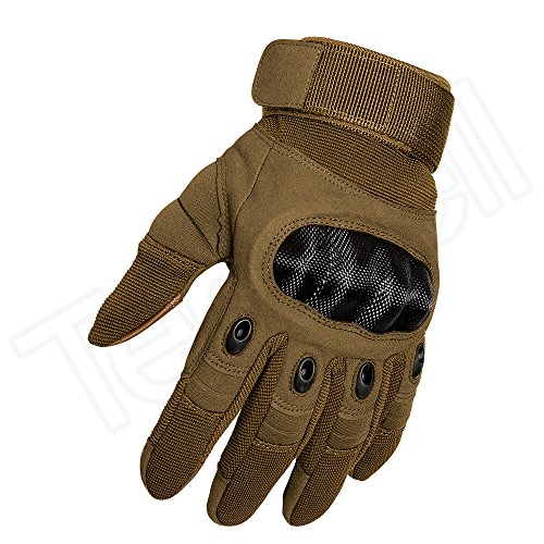 Tenwell Airsoft Glove 6 Tenwell Tactical Gloves Military Rubber Hard Knuckle Full Finger Outdoor Gloves for Men Fit for Cycling Motorcycle Camping Outdoor Sports