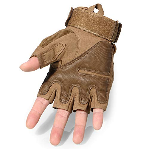WTACTFUL Airsoft Glove 3 WTACTFUL Men Motorbike Fingerless Gloves for Motorcycle Cycling Climbing Hiking Hunting Gloves