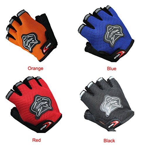 Goodtrade8 Airsoft Glove 4 GOTD Military Half-finger Airsoft Hunting Bike Riding Driving Outdoor Sports Cyclsing Fingerless Gloves for Women Men Kids Girls Boys Teens (Red)