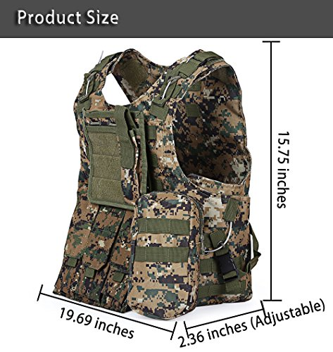 ATAIRSOFT Airsoft Tactical Vest 6 ATAIRSOFT Molle Tactical Airsoft Paintball Vest