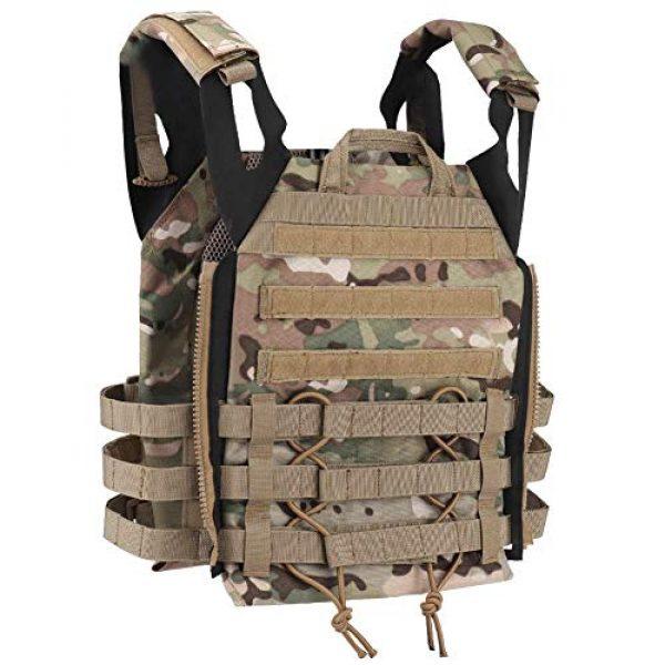Tactical Area Airsoft Tactical Vest 3 Tactical JPC MOLLE Vest, Adult Tactical CS Field Vest Outdoor Training Airsoft Protective Vest