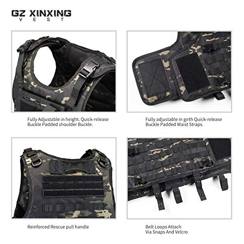 GZ XINXING Airsoft Tactical Vest 6 GZ XINXING Tactical Airsoft Paintball Vest