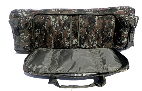 """East West U.S.A Airsoft Gun Case 4 East West U.S.A RTGC604 36"""" Double Tactical Molle Soft Padded Rifle Long Hunting Bag"""