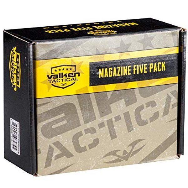 Valken Airsoft Gun Magazine 2 Valken Airsoft M4 Mid-CAP Thermold Magazine, 140rd(5 Pack)-Black