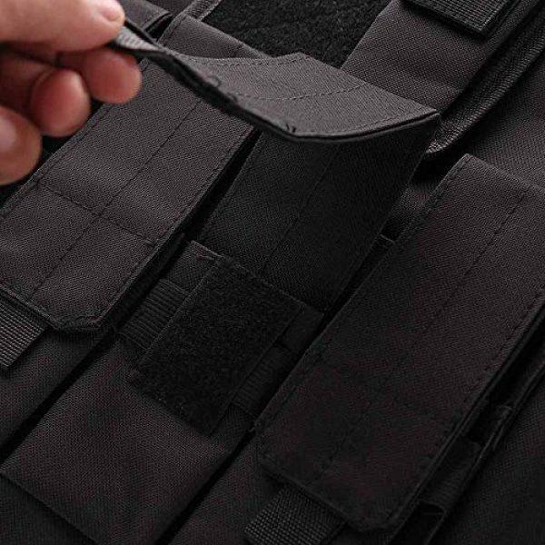 TRIEtree Airsoft Tactical Vest 6 TRIEtree Kids Tactical Vest, Children Field Combat Training Protective Vest Adjustable Waistcoat Airsoft Vest Breathable Combat Training Protective Vest for CS Field Game Outdoor Sports