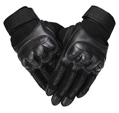 SHAWINGO Airsoft Glove 1 SHAWINGO Touch Screen Tactical Army Military Rubber Hard Knuckle Gloves for Motorcycle Cycling Hunting Airsoft Paintball Shooting