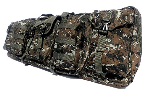"""East West U.S.A Airsoft Gun Case 3 East West U.S.A RTGC604 36"""" Double Tactical Molle Soft Padded Rifle Long Hunting Bag"""