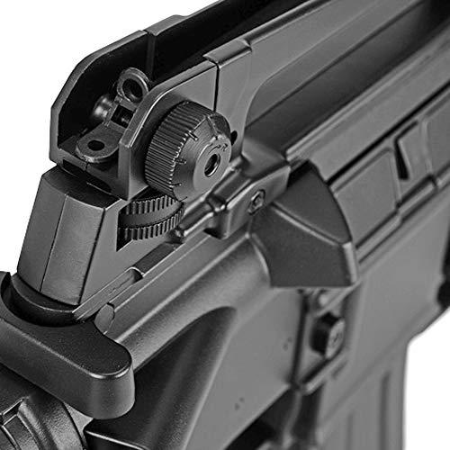 BBTac Airsoft Rifle 6 BBTac Airsoft Gun Electric Rifle Full Auto with Burst 3 Round Launcher, Rail System, Powerful AEG Shoot 6mm BBS