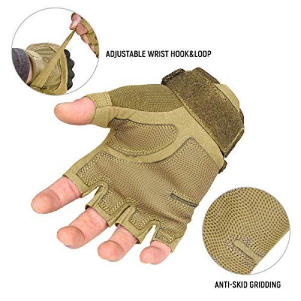 FREE SOLDIER Airsoft Glove 6 FREE SOLDIER Outdoor Half Finger Safety Heavy Duty Work Gardening Cycling Gloves