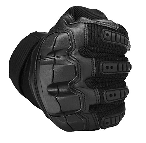 SHAWINGO Airsoft Glove 5 SHAWINGO Touch Screen Tactical Army Military Rubber Hard Knuckle Gloves for Motorcycle Cycling Hunting Airsoft Paintball Shooting