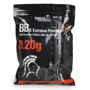 Lancer Tactical Airsoft BB 1 Lancer Tactical 1000 Extreme Precision .20g 6mm Airsoft BBS