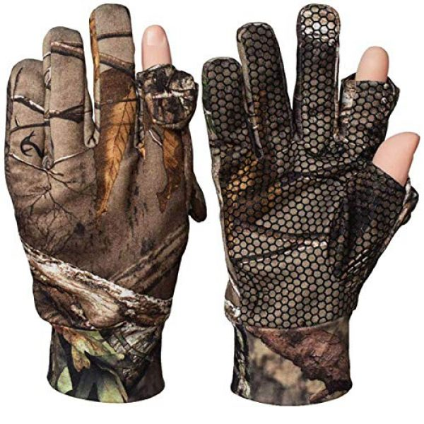 SHAWINGO Airsoft Glove 1 SHAWINGO Camouflage Hunting Gloves Cut Finger Camo Gloves for Archery Fishing Shooting