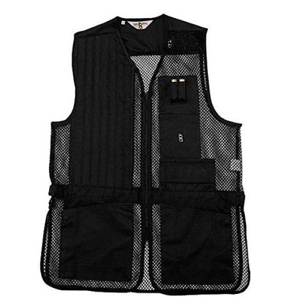 Bob-Allen Airsoft Tactical Vest 1 Bob-Allen Shooting Vest, Left Handed, Black, Medium