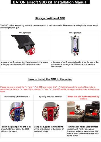 BATON airsoft Airsoft Tool 5 BATON airsoft SBD [ to Protect AEG Switch ]
