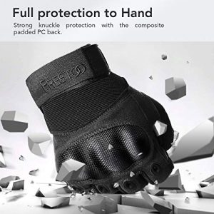 FREETOO Airsoft Glove 2 FREETOO Knuckle Tactical Gloves for Men Military Gloves for Shooting Airsoft Paintball Motorcycle Climbing and Heavy Duty Work