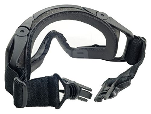 FMA Airsoft Goggle 6 FMA Airsoft Paintball OPS CORE Jump Helmet Rail Clear SI Goggles Glasses Black SWAT