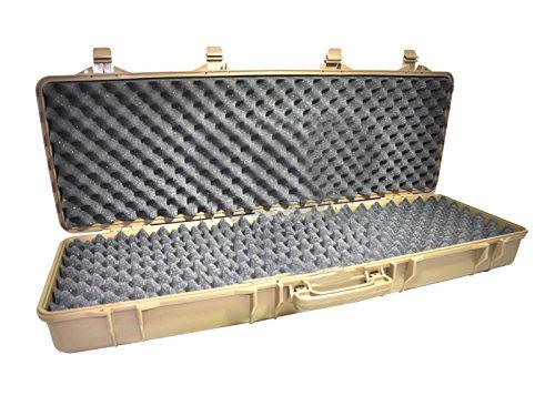 SRC Airsoft Gun Case 2 SRC Airsoft Rifle Gun Foam Padded Plastic Carrying Gun Case Tan 105cm 41 Inches Large