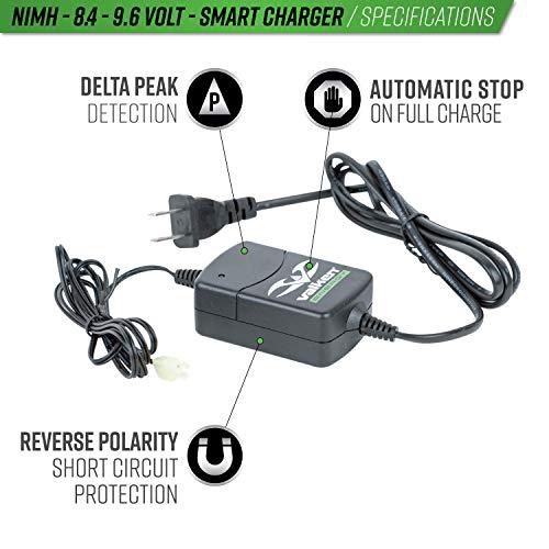Valken Airsoft Battery Charger 5 Valken Airsoft NiMH Smart Battery Charger - 8.4V-9.6V