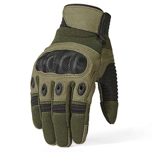 ReFire Gear Airsoft Glove 3 ReFire Gear Military Tactical Gloves Full Finger Rubber Hard Knuckle Army Gloves for Airsoft Paintball Shooting Motorcycle Cycling Hunting
