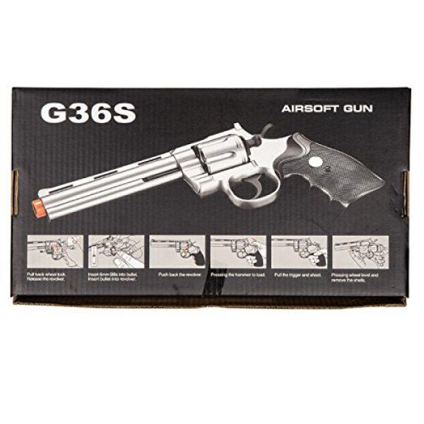 UKARMS Airsoft Pistol 6 UKARMS Spring Airsoft Gun - 6 Shot 357 Magnum Revolver w/Shells + 6mm BBS (Silver)