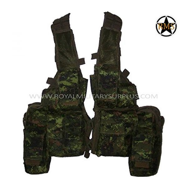 Royal Military Surplus Airsoft Tactical Vest 1 Tactical Vest - Rhodesian - Canada Army Digital Camouflage - Airsoft & Paintball Gear - CADPAT (Temperate Woodland)