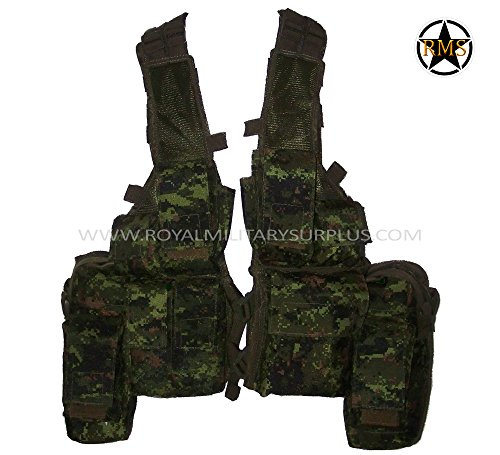 Royal Military Surplus  1 Tactical Vest - Rhodesian - Canada Army Digital Camouflage - Airsoft & Paintball Gear - CADPAT (Temperate Woodland)