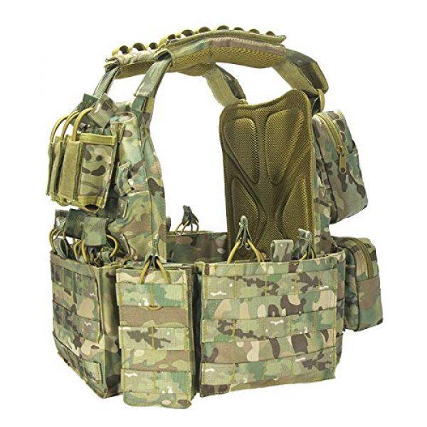 vAv YAKEDA Airsoft Tactical Vest 2 YAKEDA Tactical Vest Outdoor Ultra-Light Breathable Combat Training Vest Adjustable for Adults 600D Encryption Polyester-VT-1063