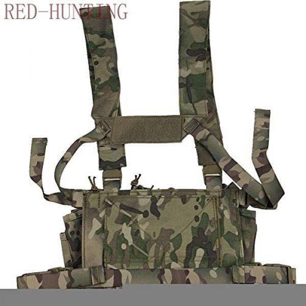 Vioaplem Airsoft Tactical Vest 4 Vioaplem Multicam Tactical Molle Vest Ammo Chest Rig Removable Hunting Airsoft Paintball Gear Vest with AK 47/74 Magazine Pouch