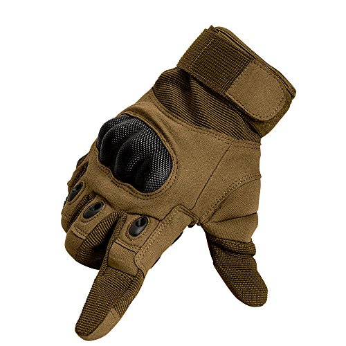 Tenwell Airsoft Glove 1 Tenwell Tactical Gloves Military Rubber Hard Knuckle Full Finger Outdoor Gloves for Men Fit for Cycling Motorcycle Camping Outdoor Sports