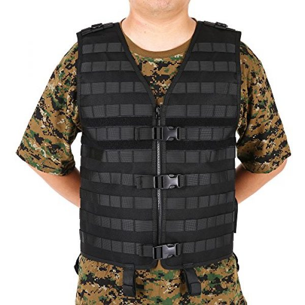 Lixada Airsoft Tactical Vest 6 Lixada Tactical Vest Military Airsoft Vest Adjustable Breathable Combat Training Vest for Outdoor Hunting, Fishing, Army Fans, CS War Game, Survival Game, Combat Training