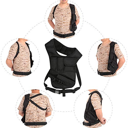 JSVDE Airsoft Gun Case 7 JSVDE Men's Shoulder Tactical Bag Concealed Carry Holster Waistband Airsoft Pistol Waterproof Nylon Stealth Tactical Accessory Bag