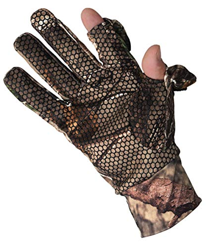 SHAWINGO Airsoft Glove 4 SHAWINGO Camouflage Hunting Gloves Cut Finger Camo Gloves for Archery Fishing Shooting