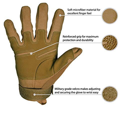 TitanOps Gear Airsoft Glove 3 TitanOPS Full Finger Hard Knuckle Motorcycle Military Tactical Combat Training Army Shooting Outdoor Gloves