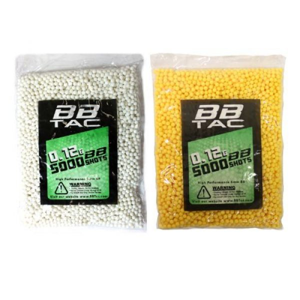 BBTac Airsoft BB 1 BBTac Airsoft BBs .12g Ammo 6mm (10,000 Round Bag, Multi Colors)