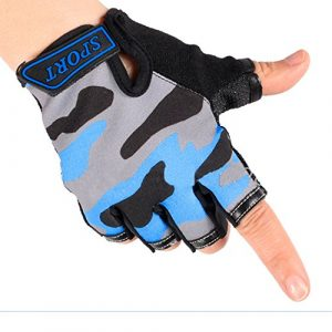 BXT Airsoft Glove 1 Children Cycling Fingerless Gloves Breathable Half Finger Non-Slip Shock-Absorbing Kids Bike Riding Gloves Outdoor Sports Gloves for Fishing Bicycle Roller Skating Hunting Climbing for Girls Boys