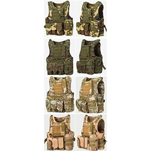 ATAIRSOFT Airsoft Tactical Vest 7 ATAIRSOFT Molle Tactical Airsoft Paintball Vest