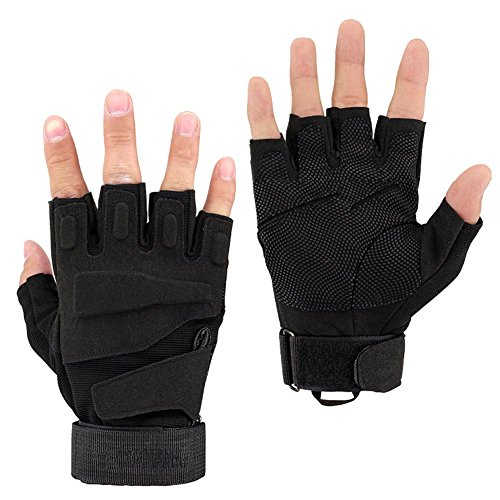 K-mover Airsoft Glove 1 K-mover Military Tactical Gloves Half Finger Cycling Gloves Fingerless Gloves for Airsoft Cycling Motorcycle Gloves