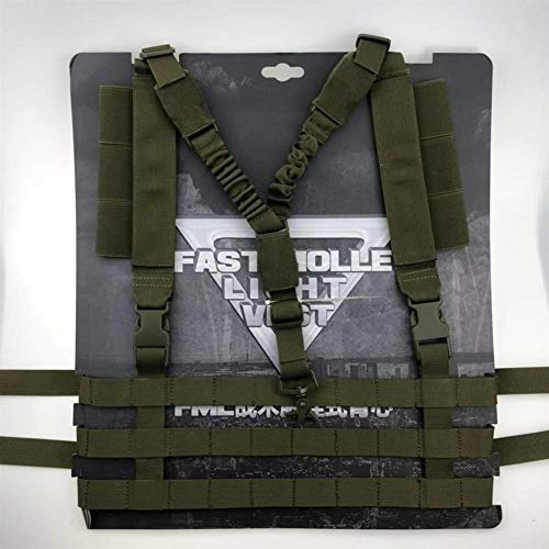 Shefure  4 Shefure Military Tactical Vest Airsoft Molle System Low Profile Chest Rig Removable Gun Sling Hunting Airsoft Paintball Gear