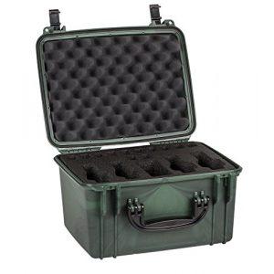 Seahorse Airsoft Gun Case 1 Seahorse Range Case for 4 Handguns, Forest Camo, 15.27 x 12.13 x 9.58-Inch